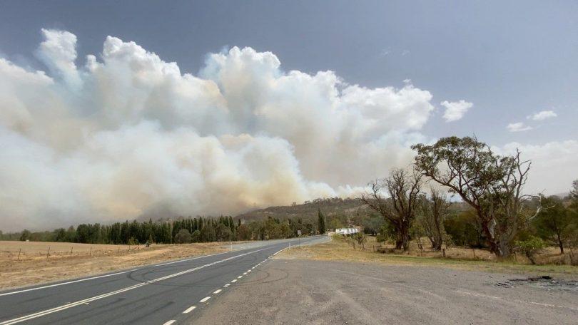 Orroral Valley fire, Tharwa Bridge
