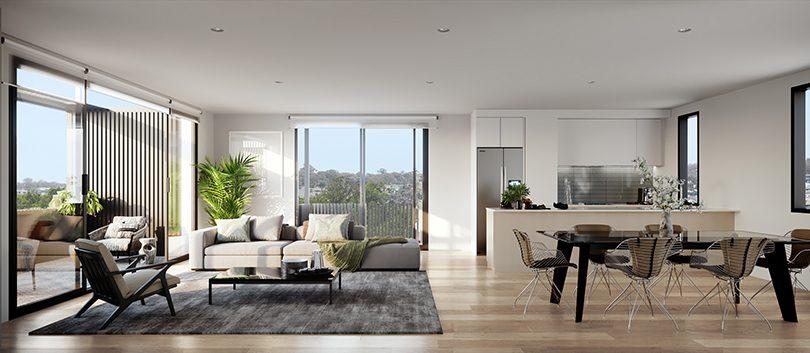 Living space at Kingsland.