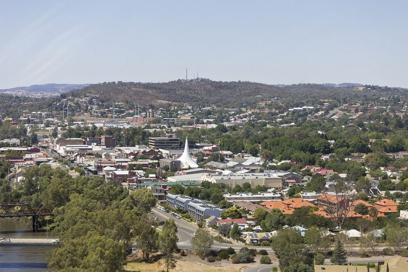 Aerial view of Central Wagga Wagga