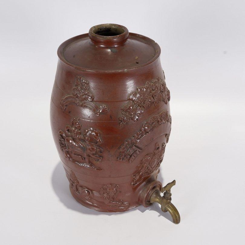 Ceramic spirit barrel 19th century