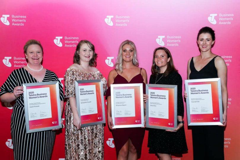 2020 ACT Telstra Business Women's Awards winners
