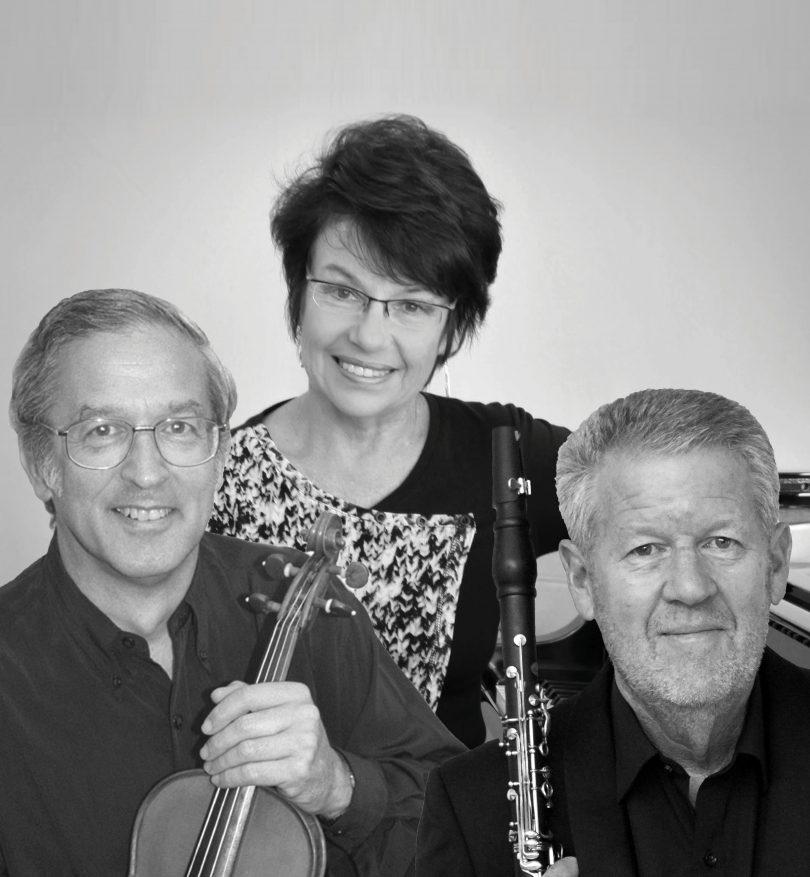 Alan Vivian on clarinet, Andrew Lorenz on violin/viola and Wendy Lorenz