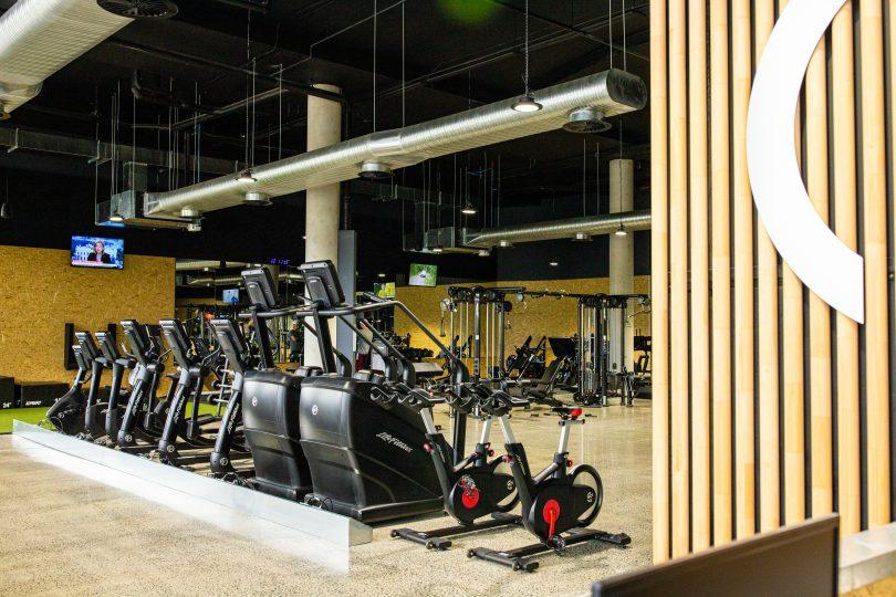 Club Lime gym equipment.