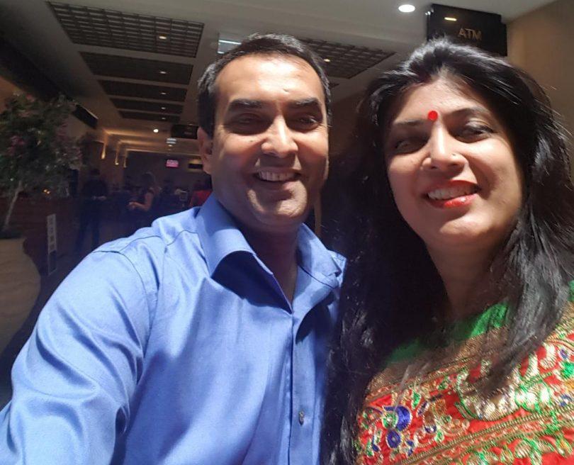 Ajit Kumar and his wife Jyotsna