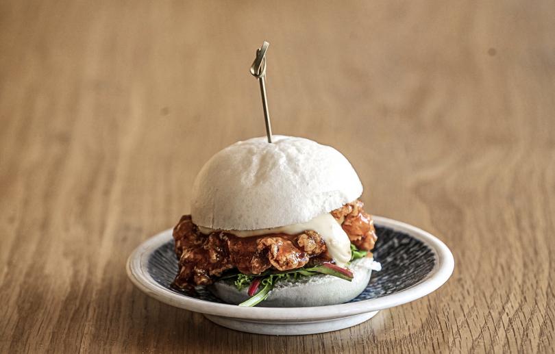 Superbao's Sichuan Fried Chicken Bao-ger