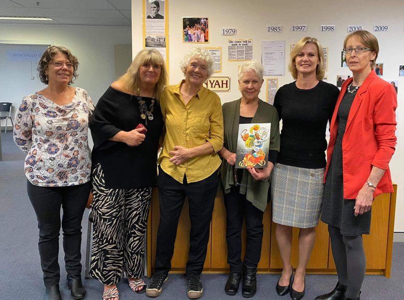 Left to right: Julie Hathaway, Liz Martin, Carol Willis, Carolyn Brooks, Nichole Overall, Narelle Sargent.