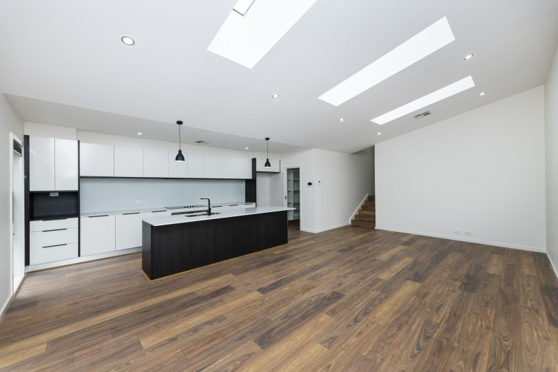 Kitchen and living areas