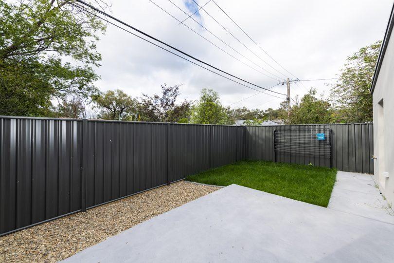 Easy care landscaped garden