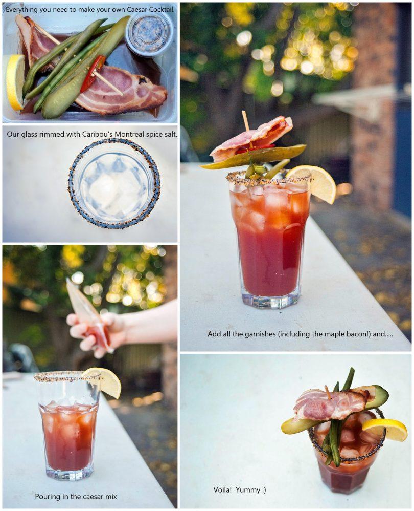 DIY caesar cocktail