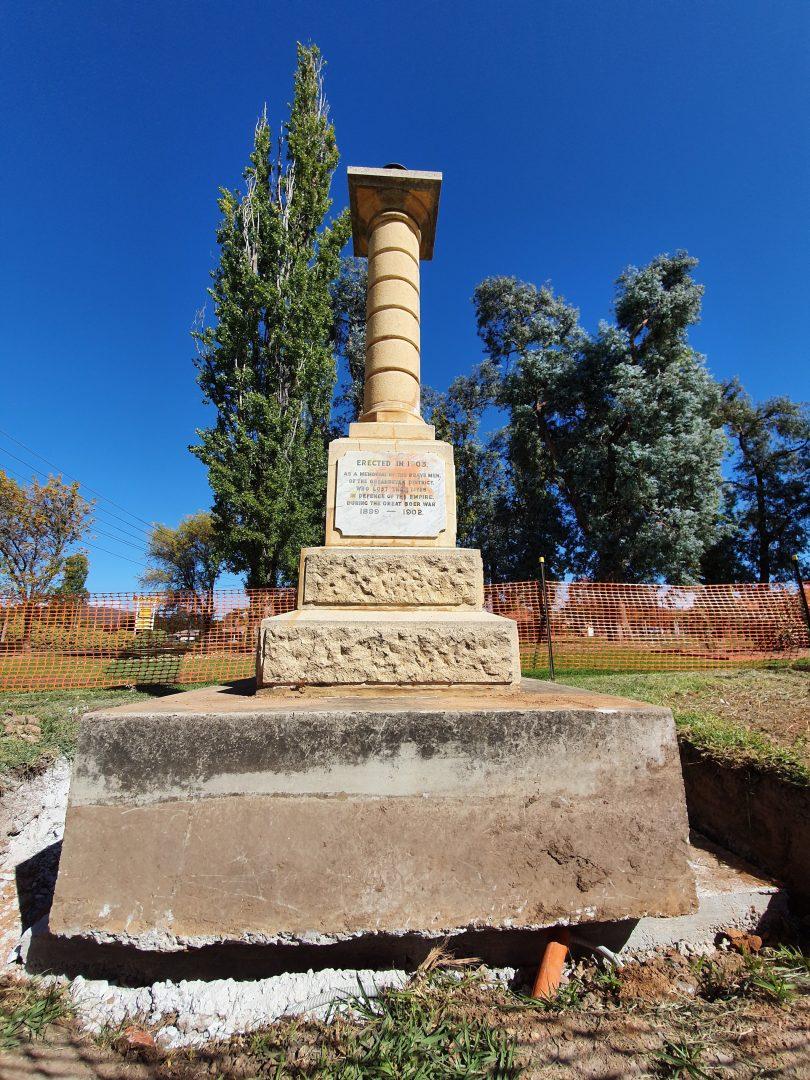 The Boer War Memorial at Queanbeyan.