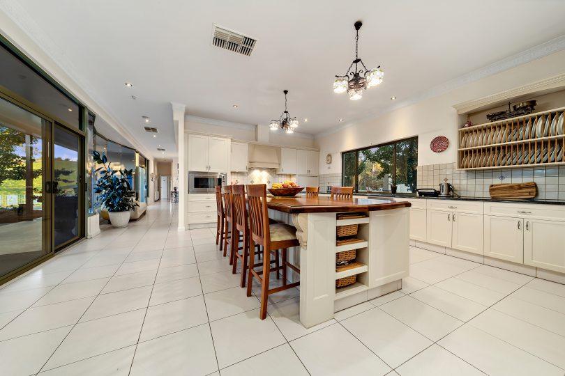Modern country kitchen at Tarra Homestead.