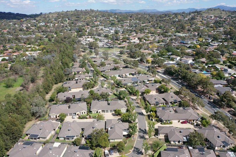 Aerial view of Weston Creek