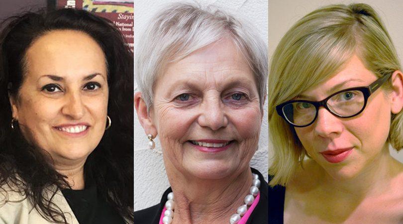 Sonia Di Mezza, Julie Dobinson and Claudia Maclean