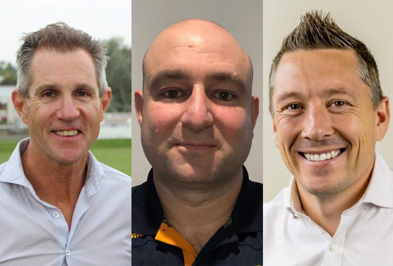 Don Furner, Gavin Hunt, Phil Brown