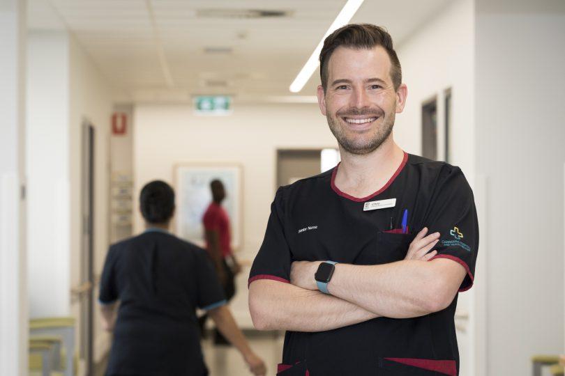 ACT Nurse of the Year Chris Harris.
