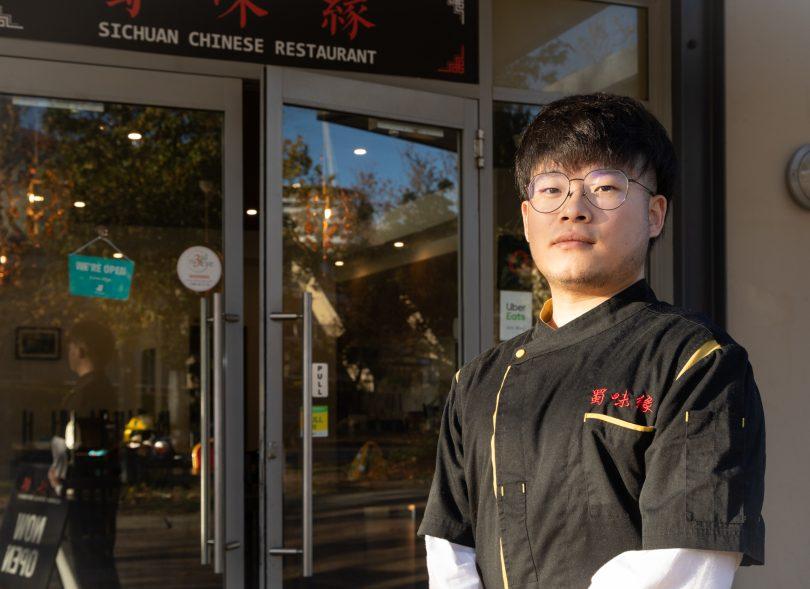 Eddie Zhao - owner of Sichuan Chinese Restaurant in Belconnen