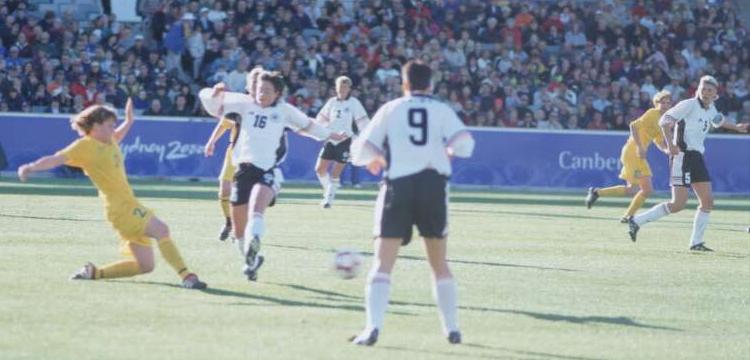 Women's Football. Australia v Germany, Sydney 2000 Olympic Games, 13 September 2000