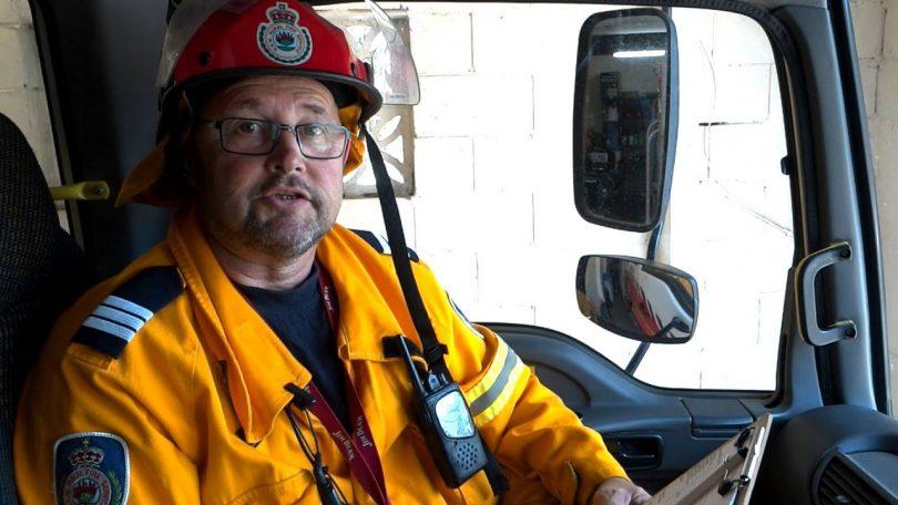 Batemans Bay Rural Fire Brigade captain Ian Aitkan