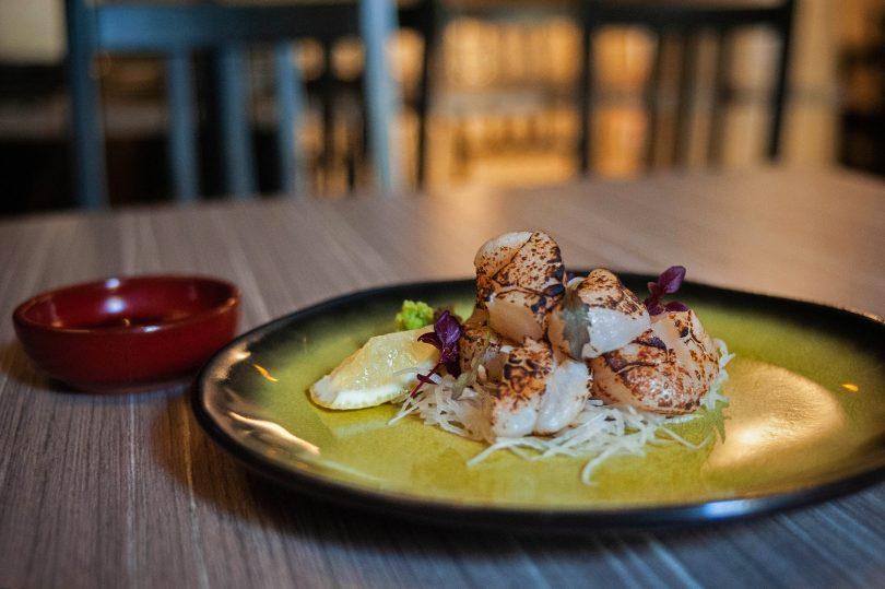 Seared scallop sashimi