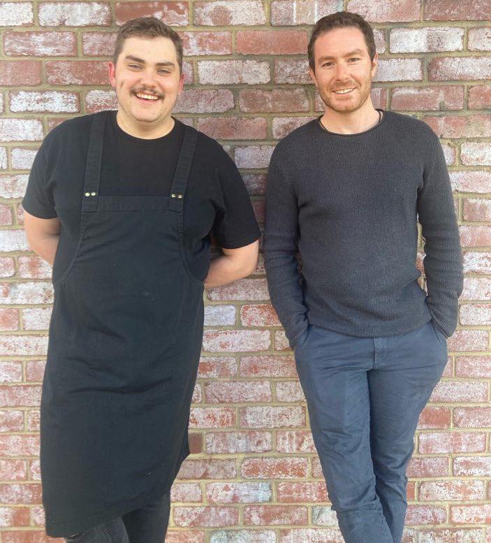 Executive chef Brett and owner Dan