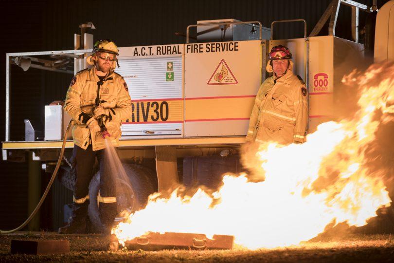 ACT RFS firefighting, bushfire