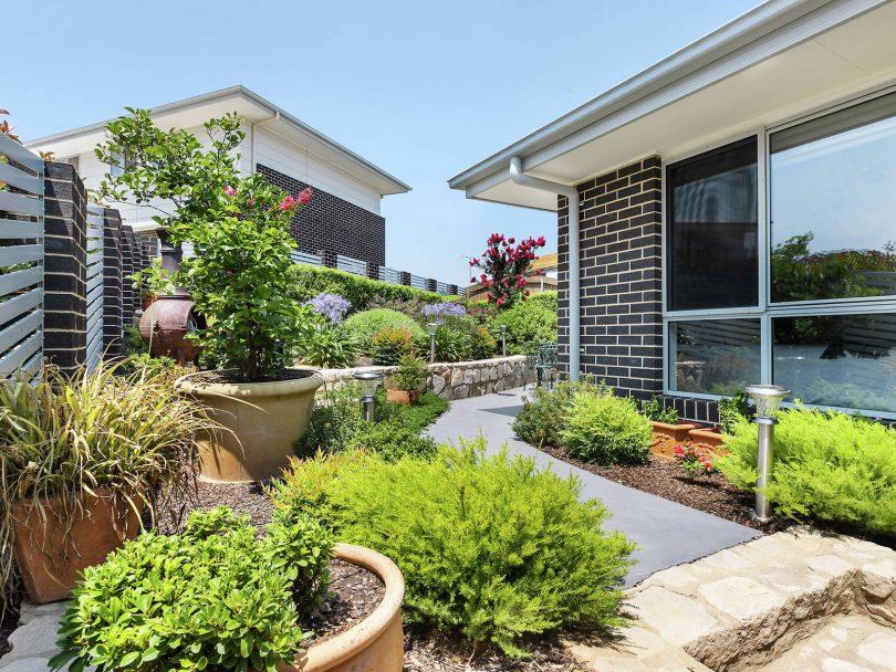 Landscaped easy care garden