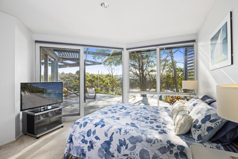 The master bedroom with ocean views