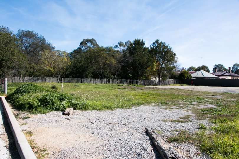 Part of the site off Ellendon St in Bungendore
