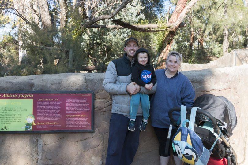 Family at the zoo