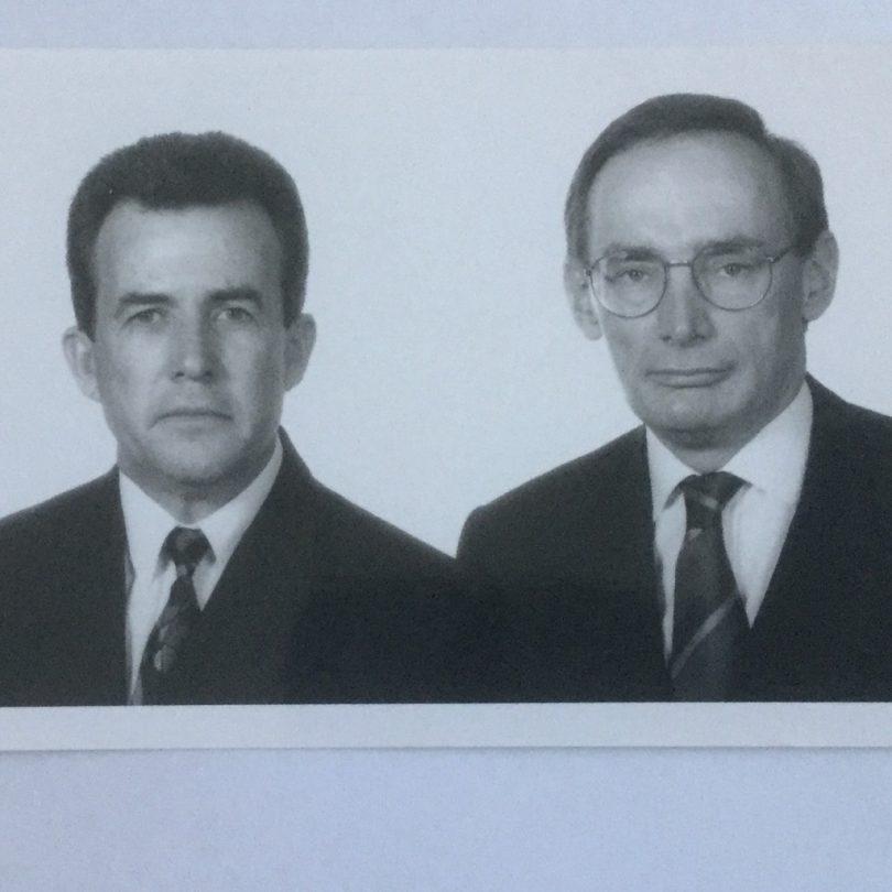 en Sullivan (left) and then NSW Opposition Leader Bob Carr