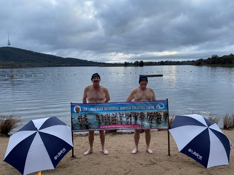 Ian Lindeman Memorial Winter Solstice Swim swimmers
