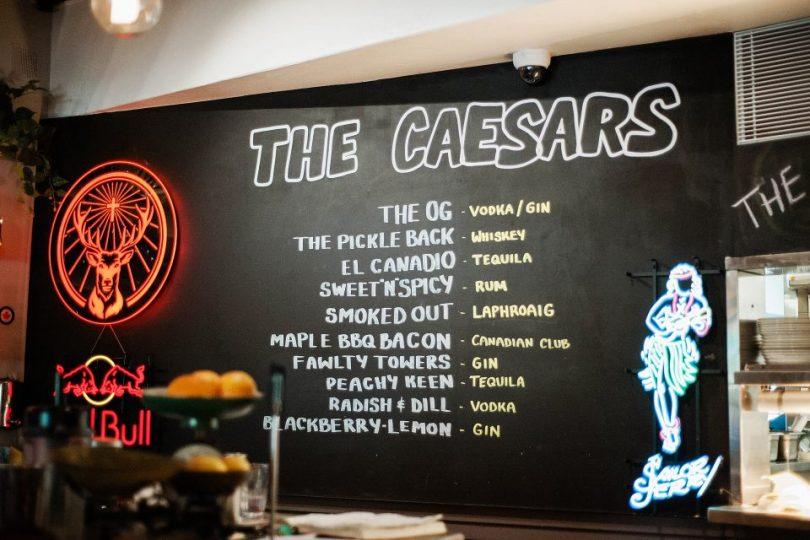 Caesars menu