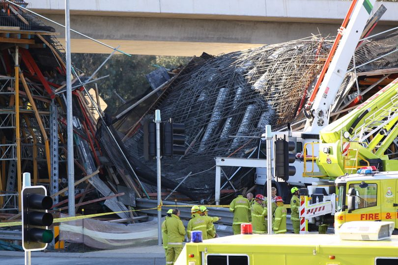 The collapse of a section of the Gungahlin Drive Extension