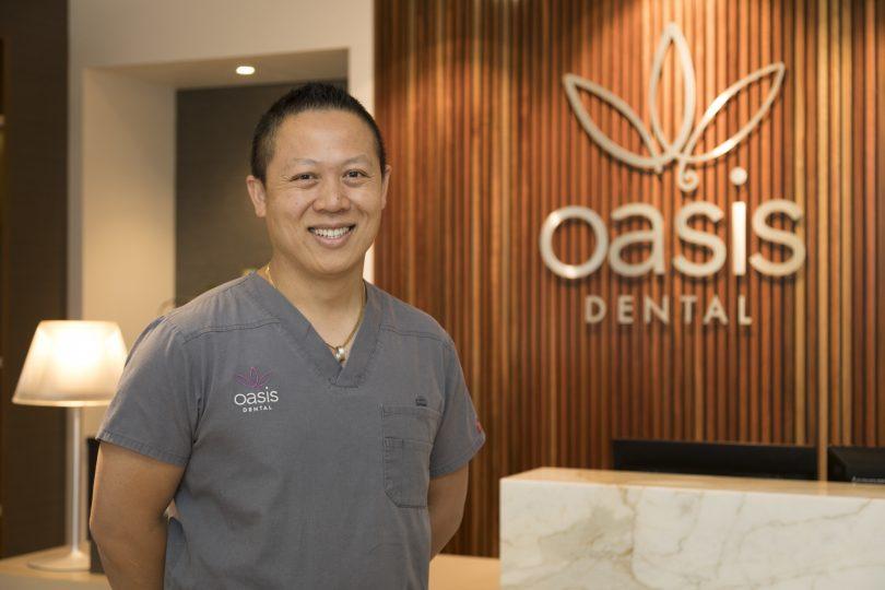 Dr Rick Luu, owner and principal dentist at Oasis Dental in Canberra.