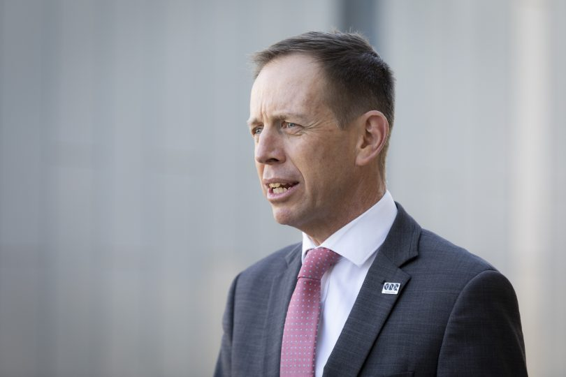 ACT Minister for Mental Health Shane Rattenbury.