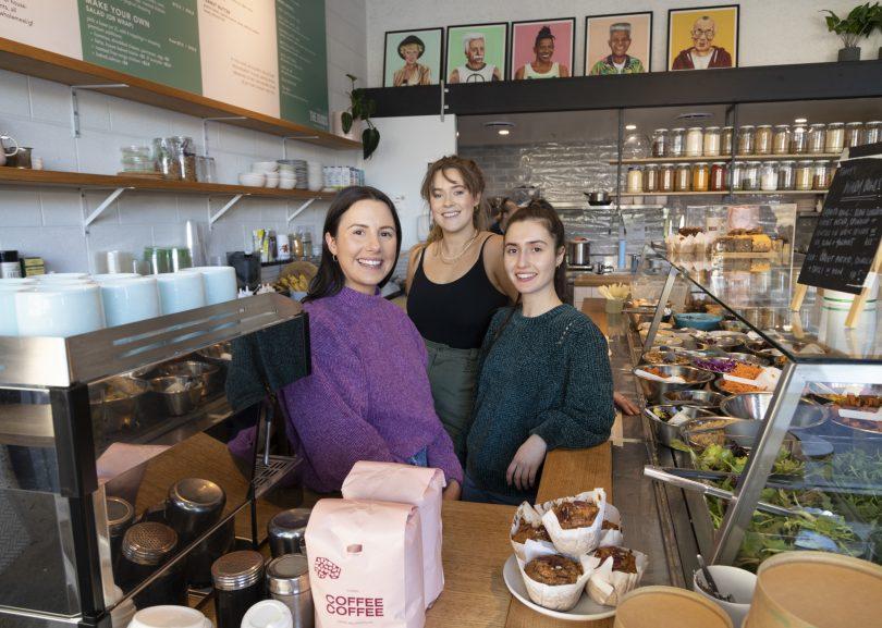 Klarisa Cengic with staff at The Goods Wholefoods.