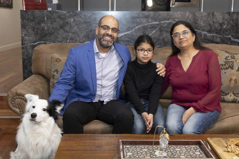 Gaurav Pharwa, Arvinder Sachdeva and their daughter