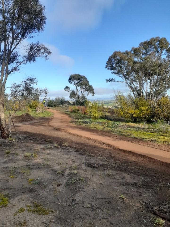 The path at Oak Hill