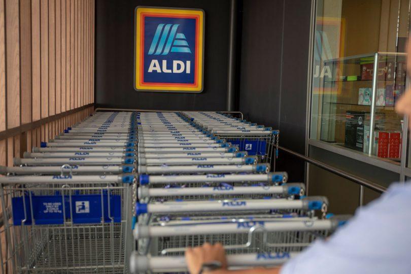 Aldi supermarket trolleys