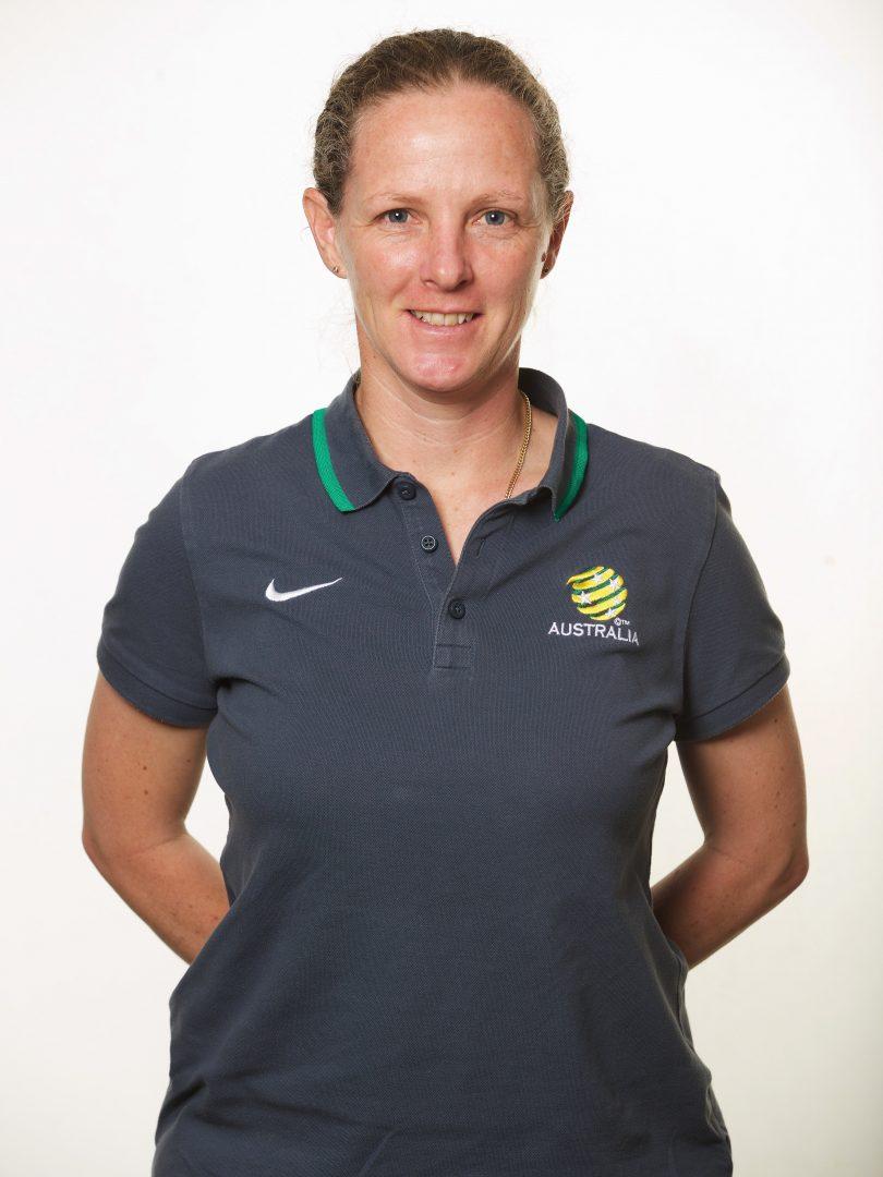 Canberra United W-League coach Vicki Linton.