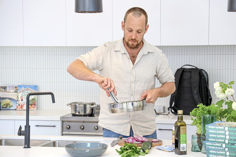 Celebrity chef Paul West during a cooking masterclass