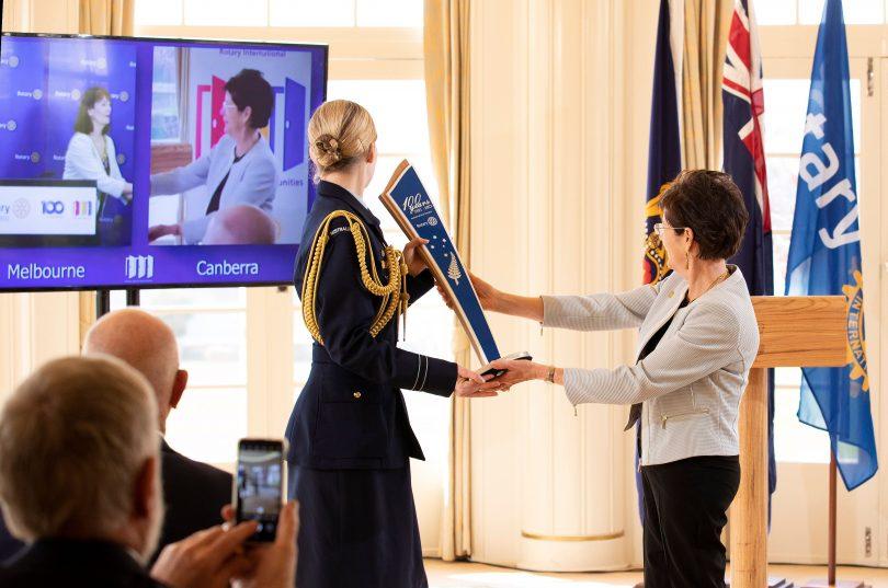 Linda Hurley 'passes' the baton