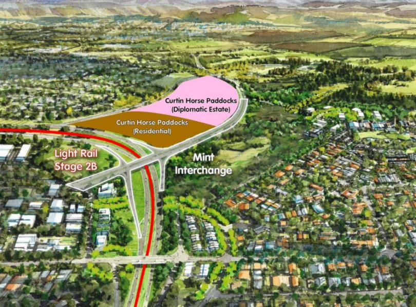 Proposed interchange site