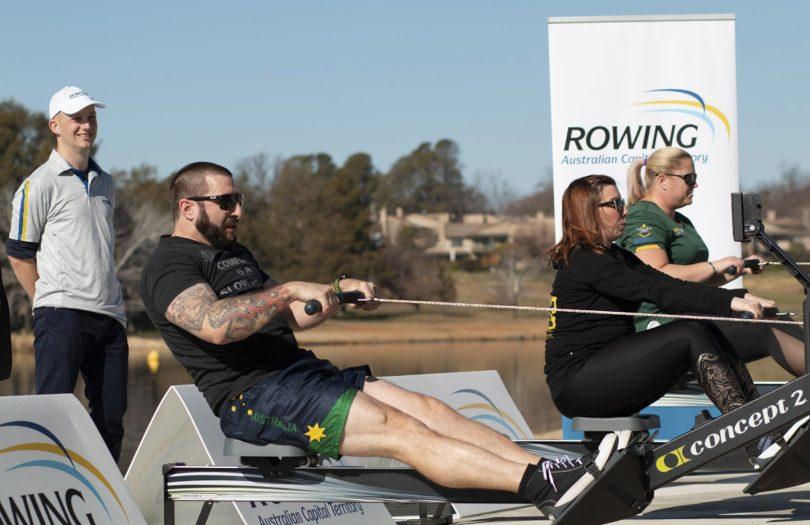 Veterans rowing