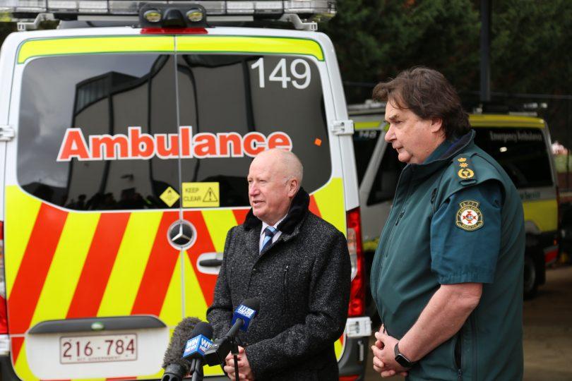 Emergency Services Minister Mick Gentleman