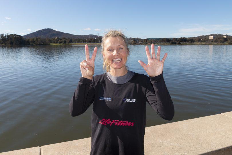 Jess after running seven marathons in seven days