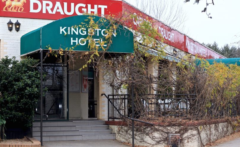 The Kingston Hotel where a man died following an altercation on Sunday night.