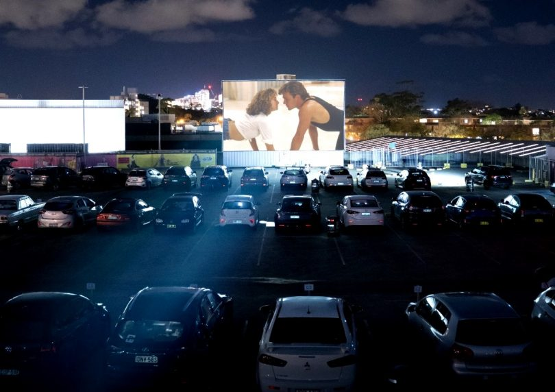 Head to the Questacon carpark to catch a movie with Mov'in Car