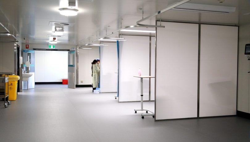 Inside the COVID-19 Surge Centre in Garran.
