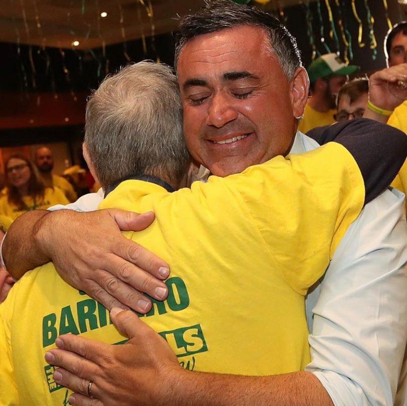 John Barilaro and his father